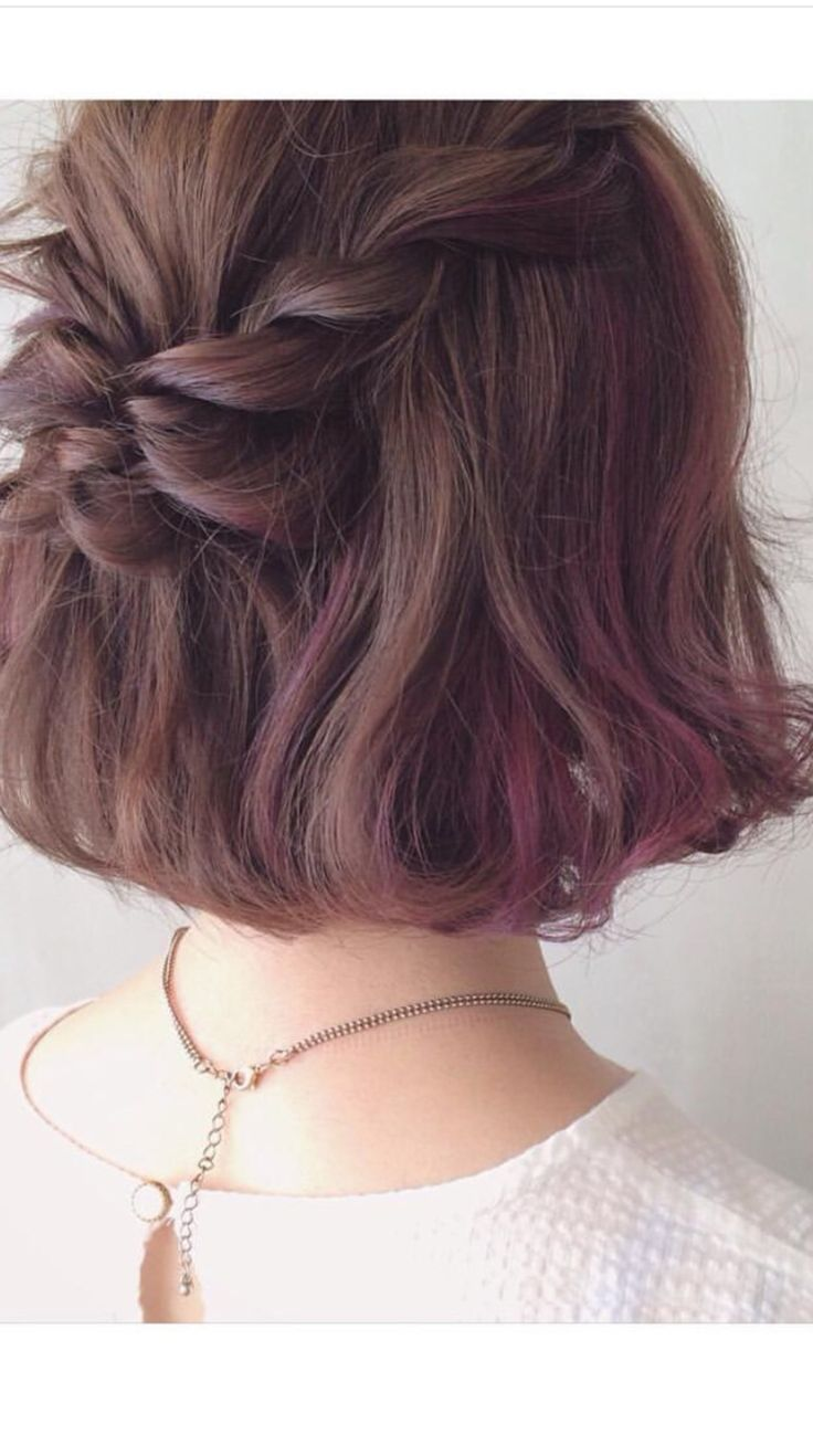 short hair braid