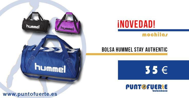 Bolsa #Hummel #StayAuthentic con asas de trasporte y cordón grande ajustable. Cómoda de llevar y de gran capacidad para tus entrenamientos o viajes #mochilas Más información: http://www.puntofuerte.es/es/bolsas-mochilas/1426-bolsa-hummel-stay-authentic.html