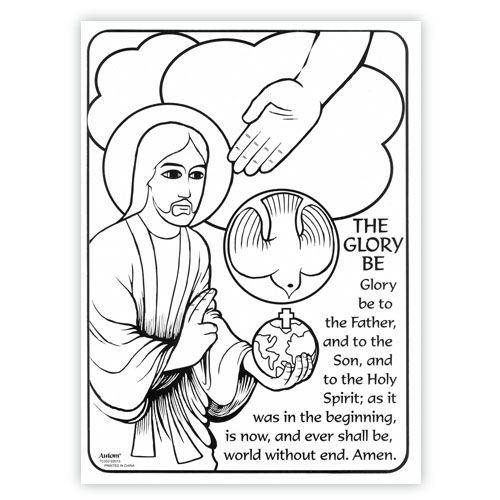 glory be prayer coloring page - Google Search