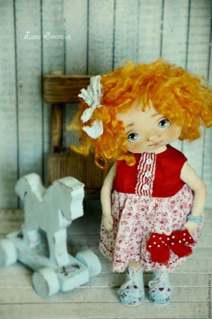Коллекционные куклы ручной работы. Ярмарка Мастеров - ручная работа. Купить Алиса. Handmade. Ярко-красный, выкройка куклы