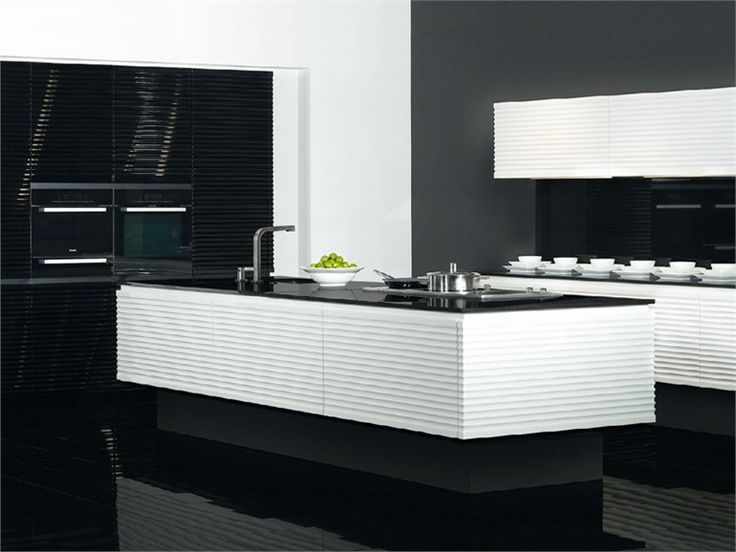 Lacquered Kitchen With Island CONTURA Modern Art Collection By Allmilmö