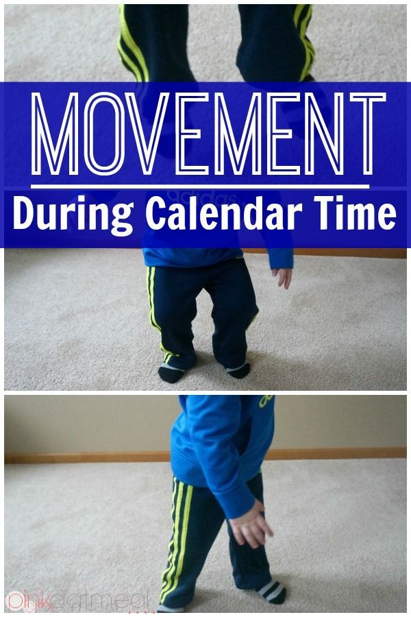 Kinesthetic Learning - Moving with numbers is perfect for calendar time and perfect for kinesthetic learning.  What a great activity for your kinesthetic learners!