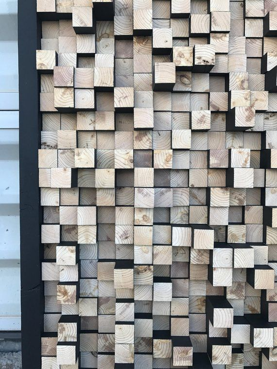 Studio Wooden Sound Diffuser Acoustic Panel Soundproofing Proof Pixel Art Multi Colored Wood Art 3d Art Wooden Art In 2020 Acoustic Panels Sound Proofing Wooden Art