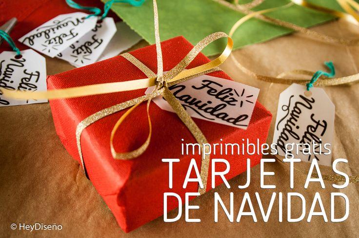 Free printable gift tags in spanish. Tarjetas de Navidad imprimibles.