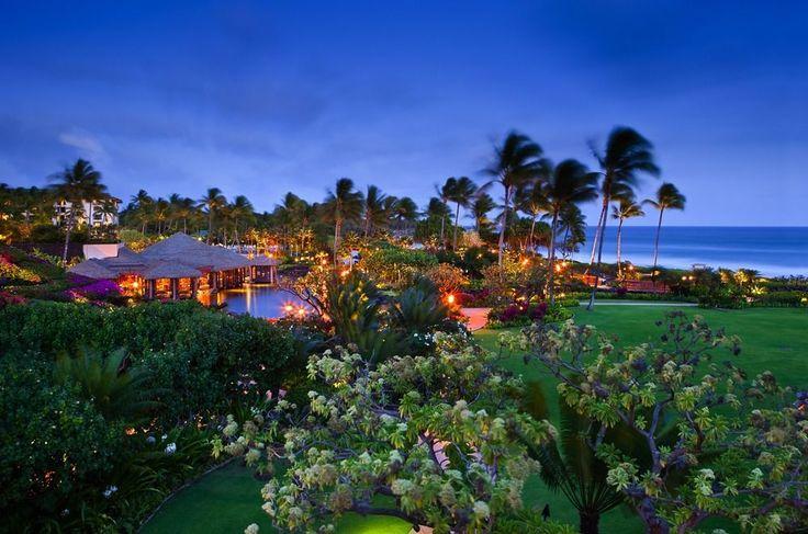 Grand Hyatt Kauai Resort & Spa - property grounds by night