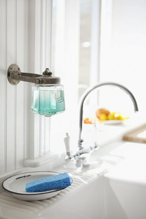 Design Sleuth: Vintage Soap Dispenser as Dish Soap Holder: Remodelista