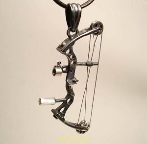 Buy Archery Jewelry Compound Bow Pendant Silver Handmade  blackene in Cheap Price on m.alibaba.com