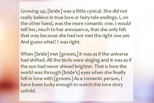 Sister Wedding Speech Text Image Speeches Quotereel Sister Wedding Speeches Speech For Sisters Wedding Wedding Speech