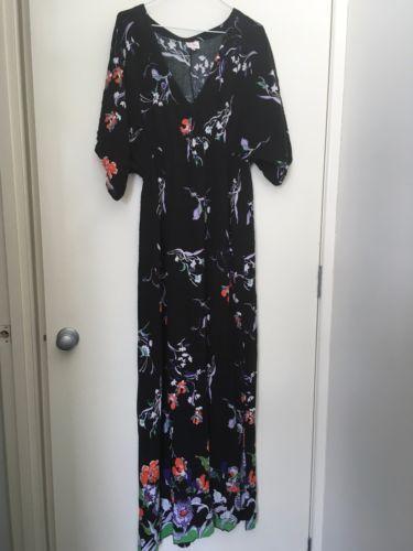 Leona-Edmiston-cotton-maxi-dress-size-4