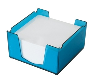 ITALPLAST I130 TINTED COLOURED MEMO CUBE WITH PAPER SIZE -105mm (L) x 105mm (W) TINT BLUE