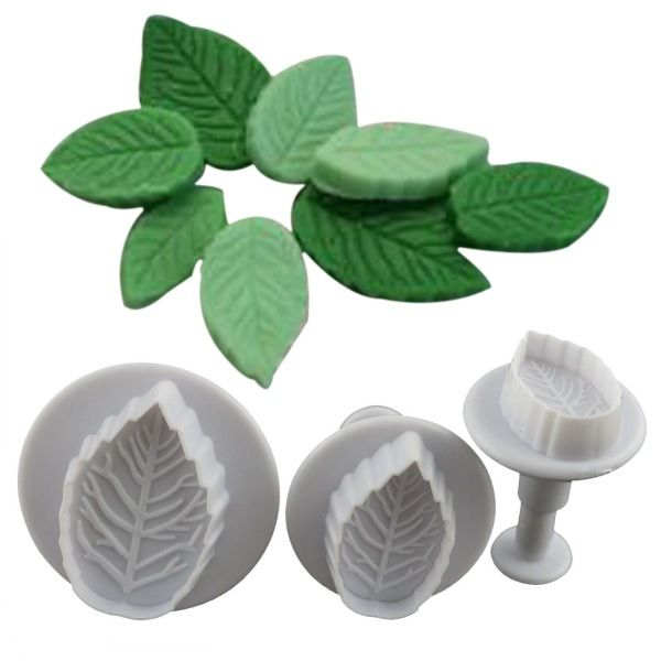3Pcs/set Leaf Shape Plunger Cutter, Free Shipping!
