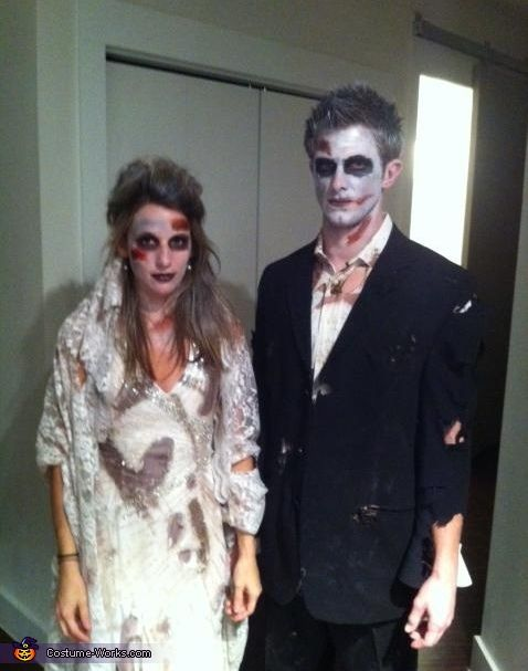 Dead Bride and Groom - Halloween Costume Contest via @costumeworks