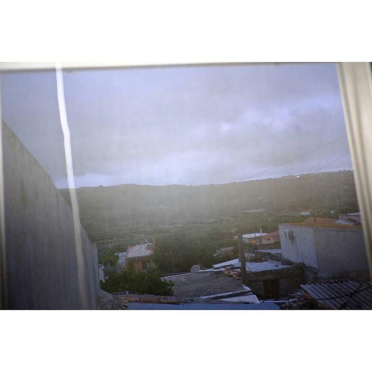 Untitled #skantzman #heraklion #crete #colour #velvia #28mm #countryside #window #colour #fujixpro1 #fuji #xpro1 #manolisskantzakis #photography #flash #sky