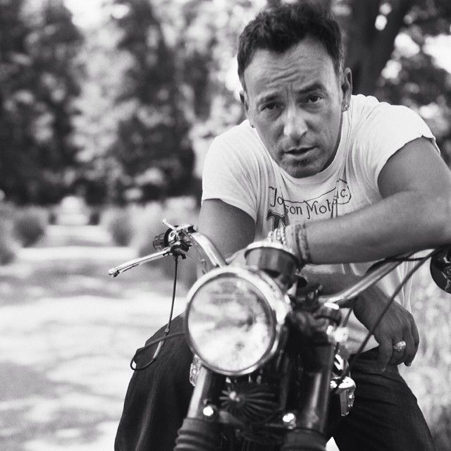 """""""Talk about a dream, try to make it real."""" - Bruce Springsteen on a Triumph T100.  #BruceSpringsteen #theboss #music #bornintheusa #vintagemotorcycles #musician #telecaster #songwriter #halloffame #rockabdroll #borntorun #triumphmotorcycles #t100 #boneville #springsteen #Padgram"""