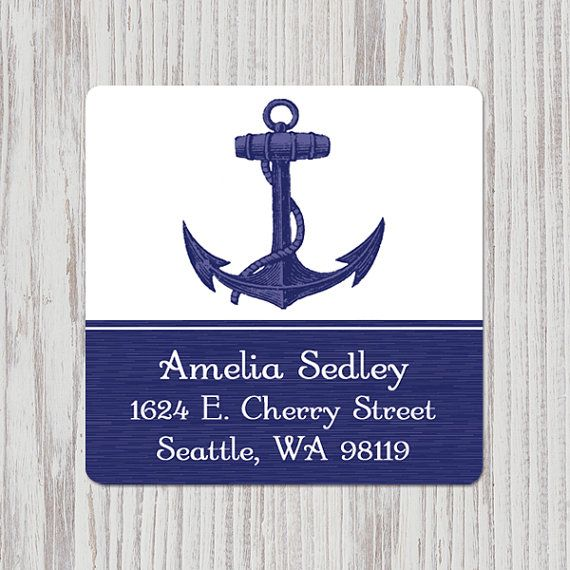 You are my anchor  Return Address Labels 1.5 inch square