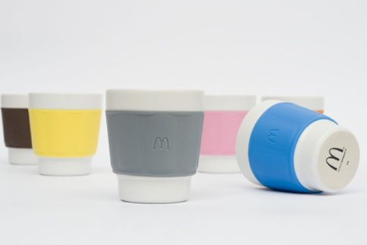 McDonald's introduces designer reusable coffee cups c/o PSFK: Designer Reusable, Color, Mcdonalds France, Mcdonald'S, Mcdonald S Designer, Coffee Cups