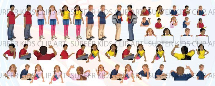 Middle School Kids Set