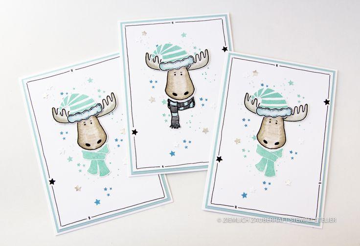 Ziemlich Zauberhaft Stempelatelier Karten Weihnachten Jolly Friends