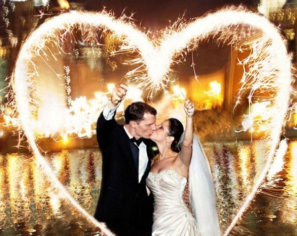 Бенгальские огни на свадьбе на WeddingDaily.ru