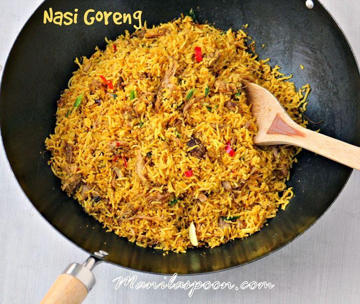 Manila Spoon: Nasi Goreng (Indonesian-style Fried Rice) - so aromatic and flavorful! #nasigoreng #easyfriedrice #asianricedish