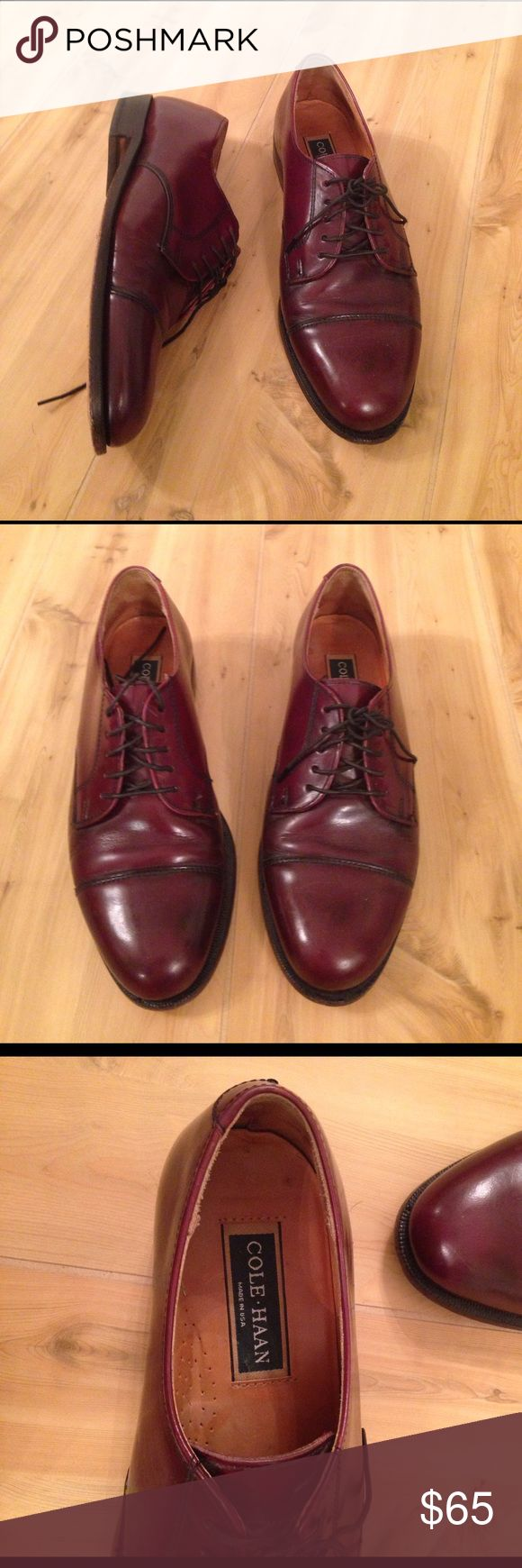 Cole Haan Dress Shoes Brown dress shoes by Cole Haan. They are used, but really good condition. Please see picture to reference size. 8 5 D Cole Haan Shoes Oxfords & Derbys