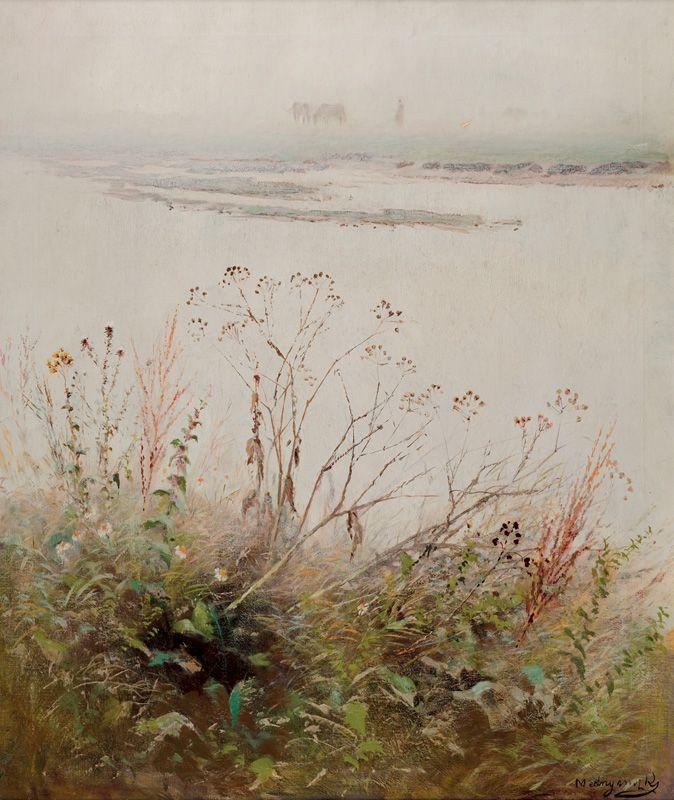 Web umenia | Ladislav Mednyánszky - Zakvitnutý breh rieky