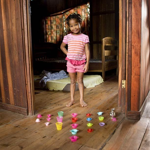 Toy stories, pictures of children around the world with their favorites toys
