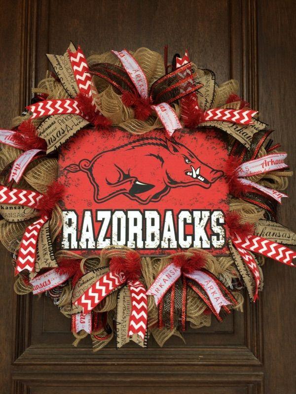 University of Arkansas Wreath, Razorback Wreath, Hog Wreath