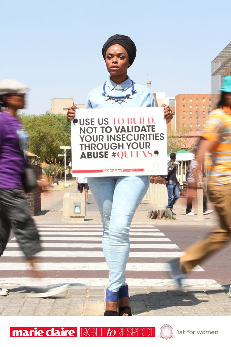 You have a right to respect. Sign our pledge along with Unathi Msengana.  http://www.marieclairvoyant.com/right-to-respect/the-right-to-respect-campaign