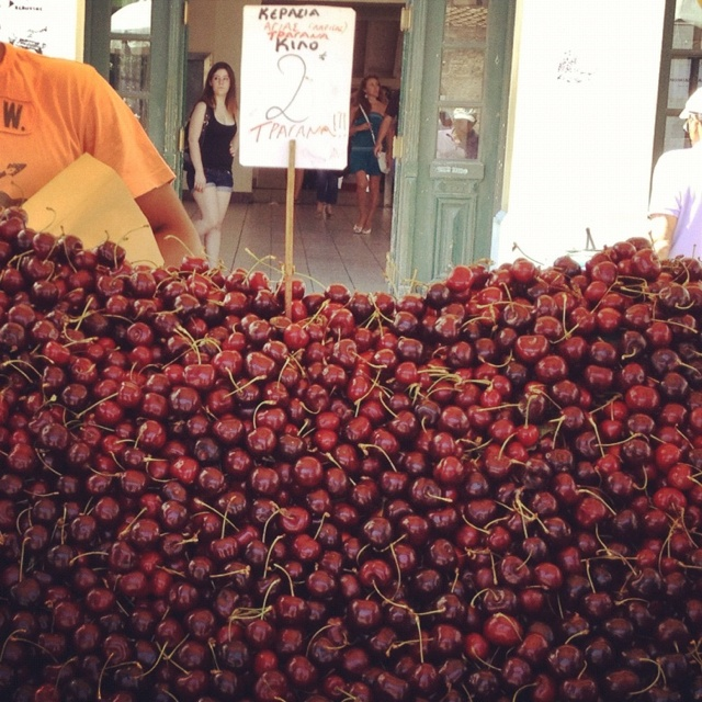 Cherries in Athens