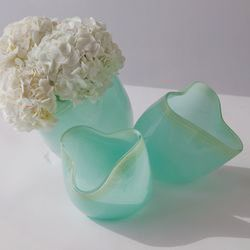 sea glass colored bowls
