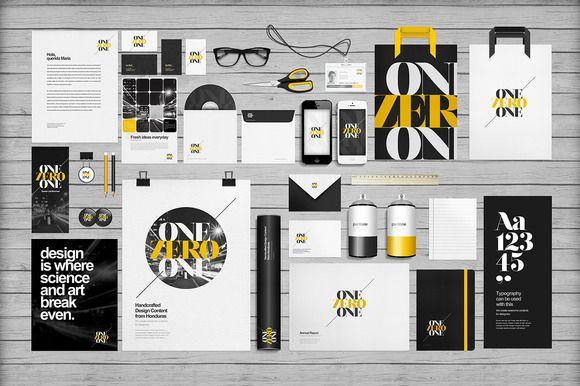 Flat Identity/Branding Mock-ups by eamejia on Creative Market