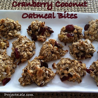 Cranberry Coconut Oatmeal Bites