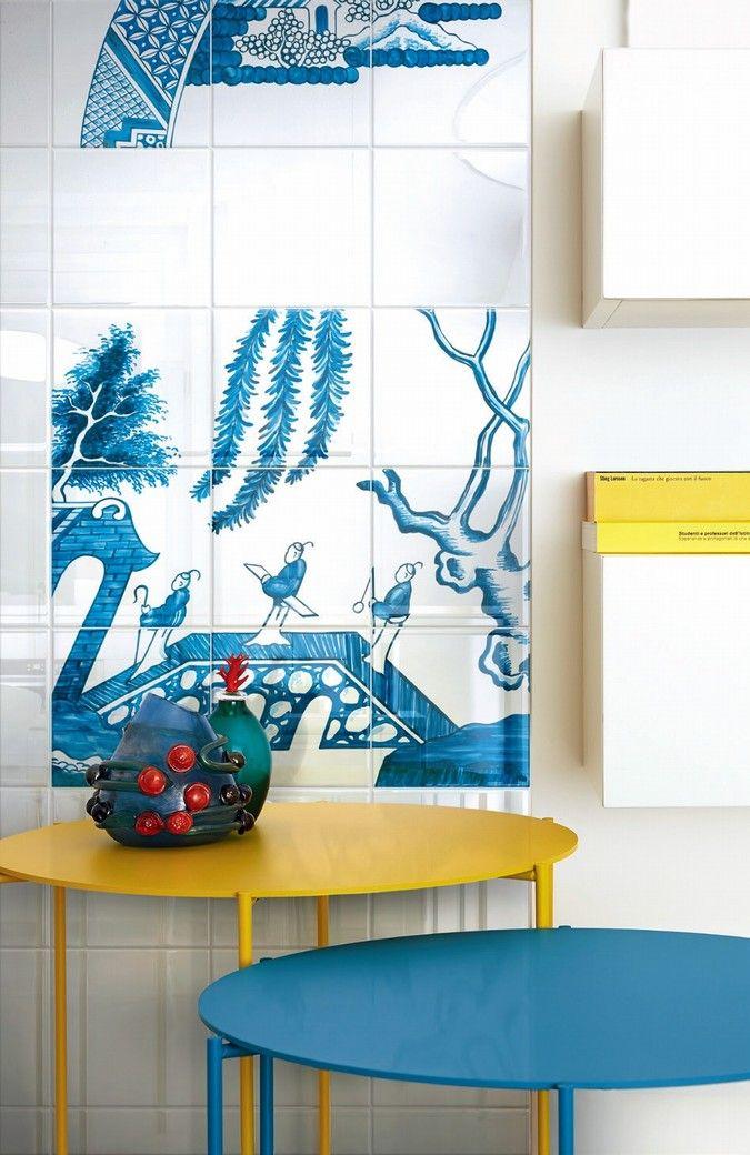 Ceramica Bardelli - Blue Willow, design Robert Dawson #tiles #ceramictiles #madeinitaly #tile #piastrelle #piastrelledesign #design #designmadeinitaly #ceramicabardelli #bardelli #syncronia #architecturevictims #syncroniaarchitecturevictims #dawson #robertdawson #robertdawsondesign
