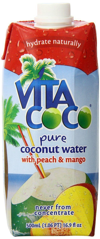 VITA COCO: Pure Coconut Water with Peach and Mango, 16.9 oz