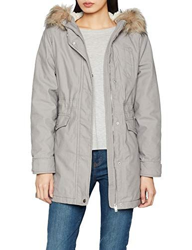 New Look Chicago Parka Femme Gris (Light Grey) 44 (Taille Fabricant ... dde3f0a86d8