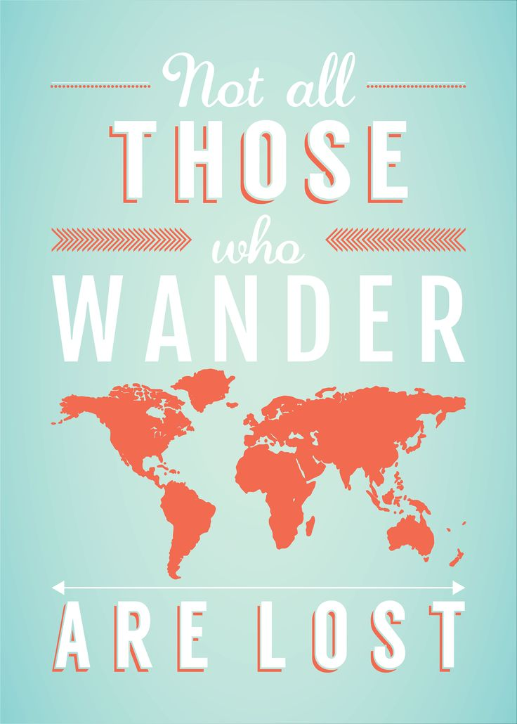 Poster design - Those who wander    #design #poster #print
