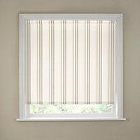 Homebase Spectrum Stripe neutral Roller Blind - 60cm