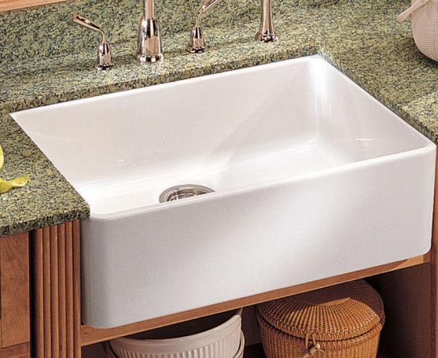"""See 5 """"Farmhouse"""" Sinks That Belong In The Big City: Best For: Classic Smooth-Front White Apron Sink"""