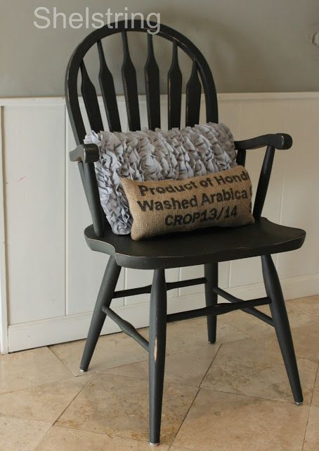 One of my favorite painting projects EVER!! The perfect repainted entry chair.