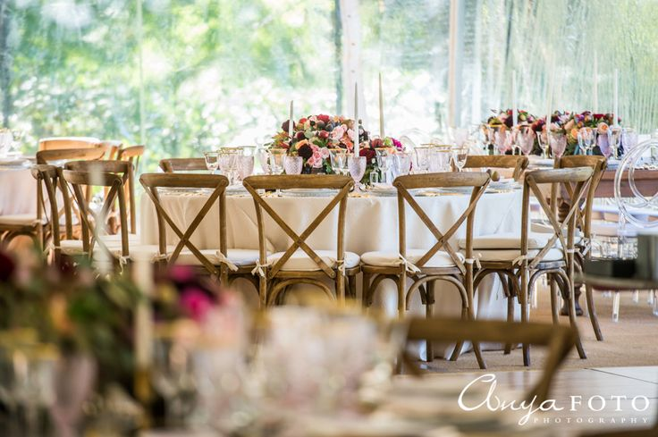 Rustic wedding table for guests | Aramat Events // Images by AnyaFoto Photography // www.anyafoto.com
