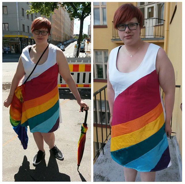 Handmade by Styde #helsinkipride2015 #pride #saatenkaarimekko #rainbowdress #seta