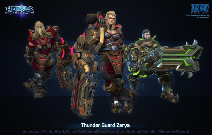 ArtStation - Hots Thunder Guard Zarya, Leslie Van den Broeck