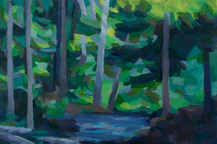 Portage into Grace Lake Oil on Canvas 20 X 30