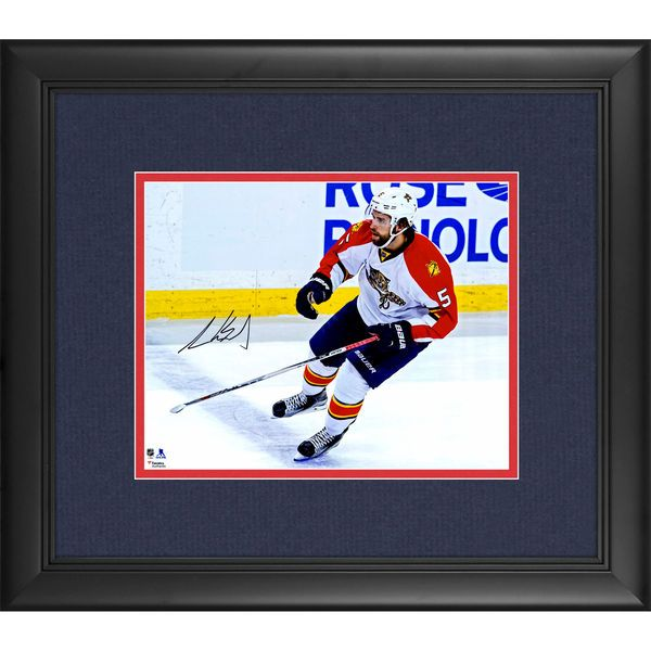 "Aaron Ekblad Florida Panthers Fanatics Authentic Framed Autographed 8"" x 10"" White Jersey Skating Photograph - $94.99"