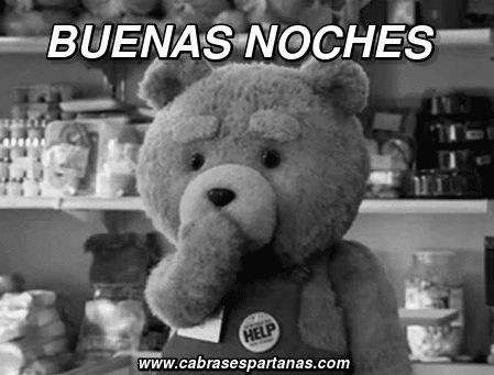 Cuando dice el oso Teddy buenas noches y nos manda unos cuantos besos. Este oso es un encanto al que no se puede dejar de querer. Gif Buenas noches