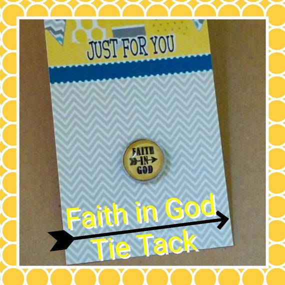 Faith in God Award tie tack for boys LDS gift for boys