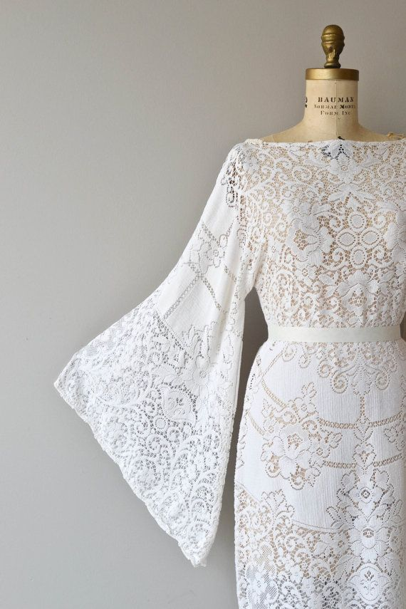 Boheme Lace dress vintage 1970s bohemian lace by DearGolden