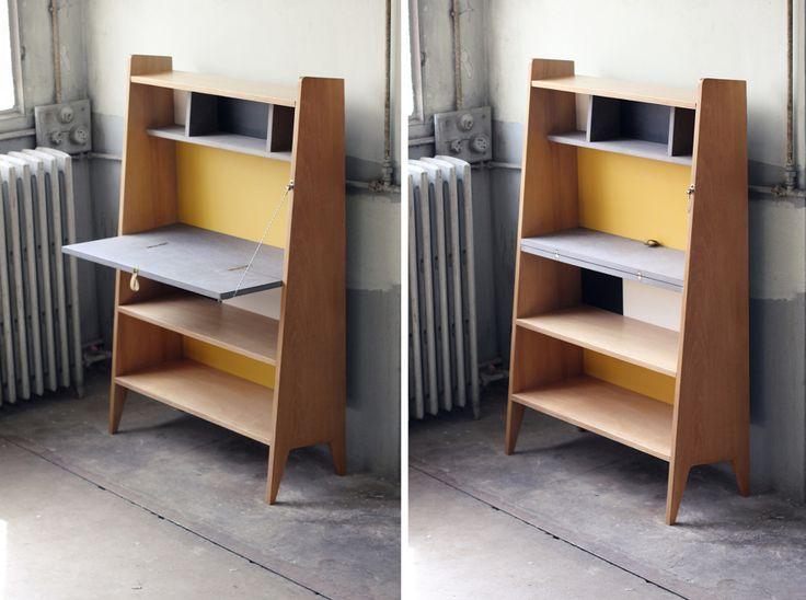 les 25 meilleures id es de la cat gorie bureau pliant sur pinterest bureau murphy atelier de. Black Bedroom Furniture Sets. Home Design Ideas