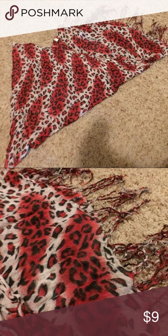Cheetah light scarf Lightweight cheetah scarf. Great condition Accessories Scarves & Wraps
